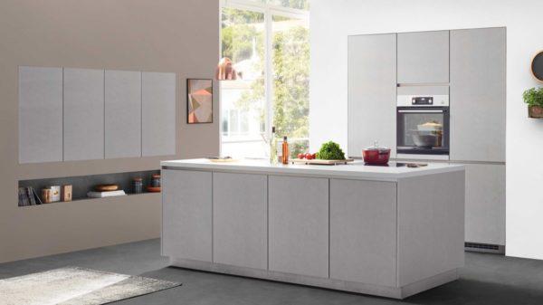 nobilia Einbauküche Cemento mit AEG Einbaugeräten