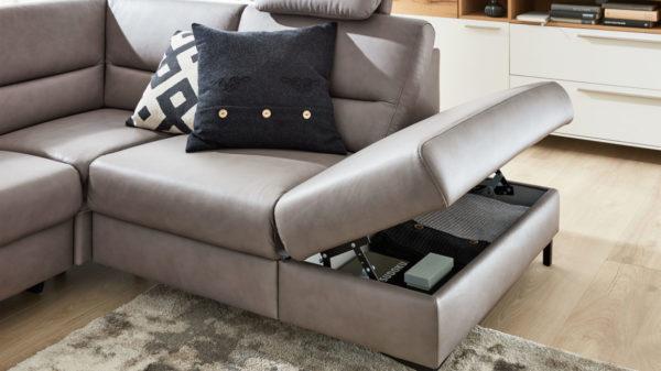 Interliving Sofa Serie 4355 – Kombilement 1XKOFGR mit Kaltschaumpolsterung