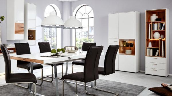 Interliving Wohnzimmer Serie 2102 Design Regal Mit Schubladen 510469 Mit Beleuchtung Weser Wohnwelt