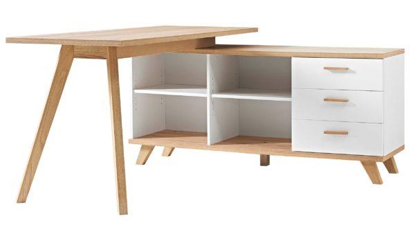 Schreibtisch Oslo kombiniert mit einem Sideboard