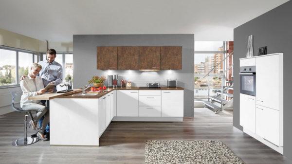 nobilia Einbauküche Laser mit gorenje Elektrogeräten und Küchenschrank-Kombination
