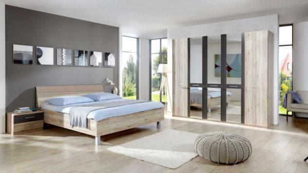 PARTNERRING COLLECTION Schlafzimmer Portland mit Kleiderschrank